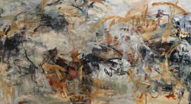 "Field Dreams - 42""x80"" Acrylic and mixed media on Paper"